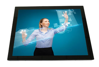 "15"" zero-bezel PCAP multi touch LCD monitor display vandal proof, G+G, IP65 front, low power"